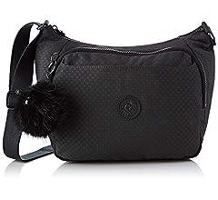 Amazon.com: Kipling CAI - Bolso bandolera de pila negra: Shoes