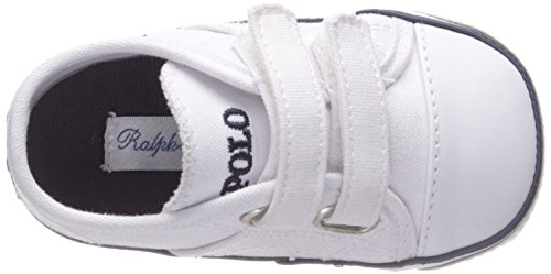 EZ Girls' Polo Pony White Canvas Navy K Dyland q7AAwx8np
