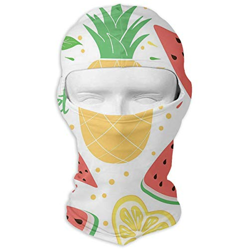YIXKC Balaclava Watermelon Pineapple Lemon Leaf Summer Unique Motorcycle Cycling Bike Bandana Skiing for Men