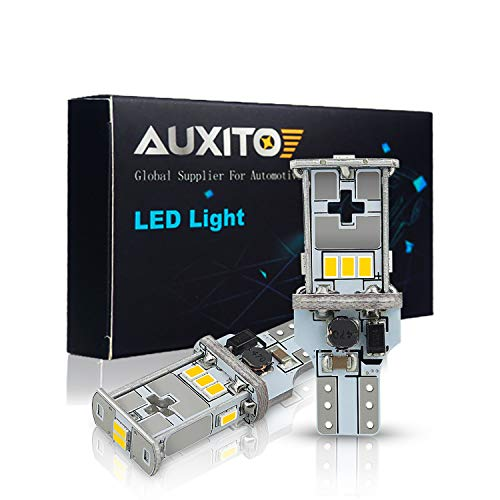 AUXITO 921 912 LED Bulb Canbus Error Free Extremely Bright Replacement Bulbs for Backup Reverse Lights 6500K Xenon (2000 Saturn Ls Replacement)