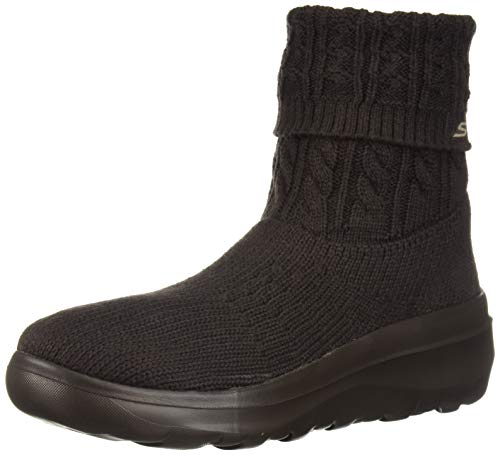 Skechers Women's SKYHIGH Ultra 15538 Mid Calf Boot, Chocolate, 9.5 M US