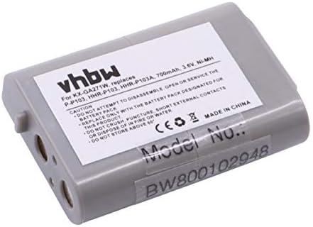vhbw Ni-MH batería 700mAh (3.6V) para teléfono inalámbrico Panasonic 89-1324-00-00, B-784, CBO103, CPH-490, ER-P507, HHR-P103, HHR-P103A: Amazon.es: Electrónica