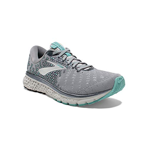 Brooks Womens Glycerin 17 Running Shoe - Grey/Aqua/Ebony - B - 8.0