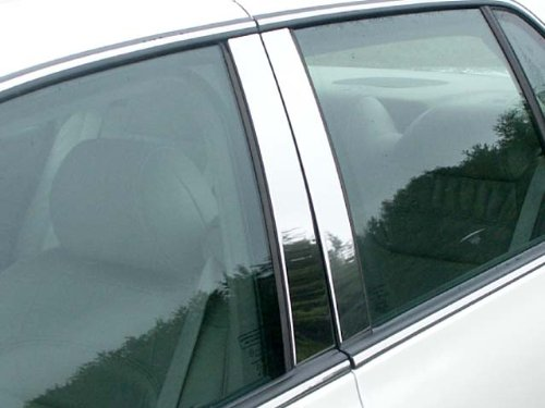 QAA FITS DEVILLE/DTS 2000-2011 Cadillac (4 Pc: Stainless Steel Pillar Post Trim Kit, 4-Door) PP40245 ()
