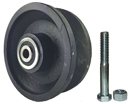 Mapp Caster Sliding Barn Door Cast Iron Wheel Kit 4''x1.5'' with 3/8'' Smooth & Quiet Ball Bearings by Mapp Caster