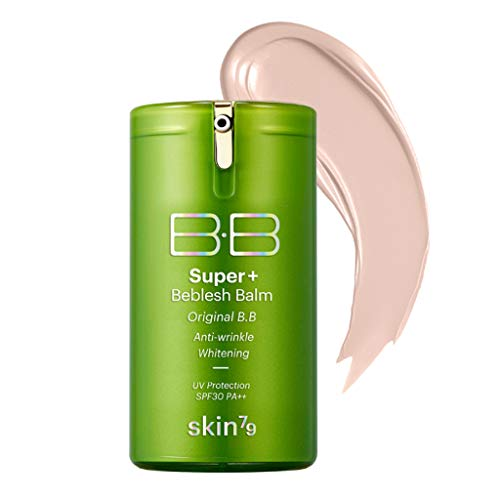 SKIN79 Super Plus Beblesh Balm Triple Function Green BB (SPF30/PA++) 40g - Anti Wrinkle, Whitening, Light Beige (No.21) For a brighter skin / Made in Korea