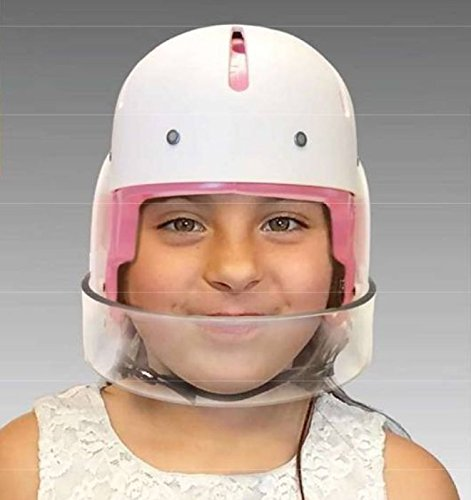 Hard Shell Helmet with Face Bar, Medium - Pink Liner