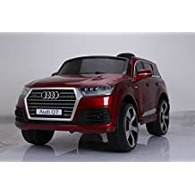 LICENSED AUDI Q7 STYLE RIDE ON CAR, WITH REMOTE CONTROL. 12V BATTERY, WINE RED