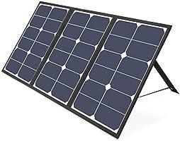 ソーラーチャージャー DC VITCOCO ソーラー充電器 ソーラーパネル 4枚ソーラーパネル 折りたたみ式 太陽光発電 iPhone、Android 各機種対応 ソーラーパネル 災害/旅行/アウトドアに大活躍に