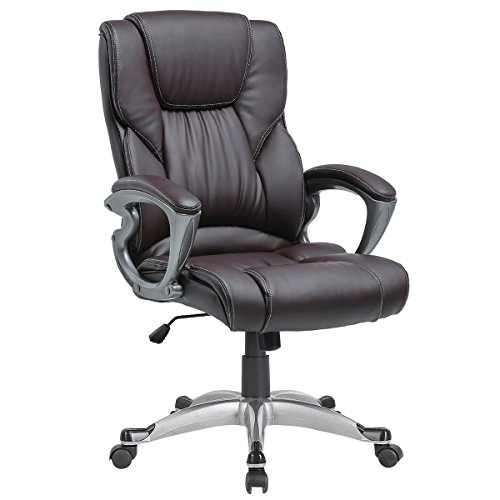 Review YAMASORO Leather Office Chair
