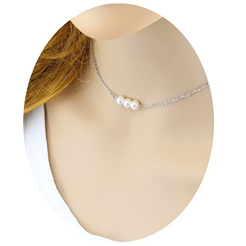 Pearl 3 String Necklace - 5