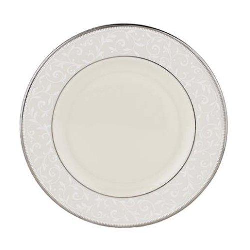 Lenox Dinnerware Innocence Pearl (Lenox Pearl Innocence Platinum Banded Ivory China Salad Plate by Lenox)