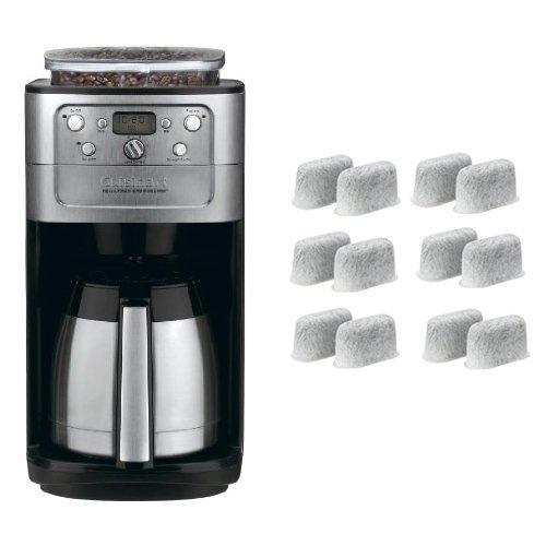 Cuisinart DGB-900BC Grind & Brew Thermal 12-Cup Automatic Coffeemaker and Everyday 12-Pack Replacement Charcoal Water Filters for Cuisinart Coffee Machines Bundle by Cuisinart