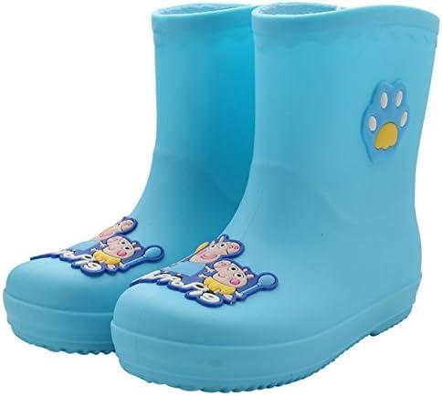 Lemonkid Cute Kids Boy Girl Rain Boots Non-Slip Outdoor Waterproof Shoes Green Little Kid 15cm