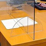 "DeskDefender Plexiglass Sneeze Guard | 36"" Wide x"