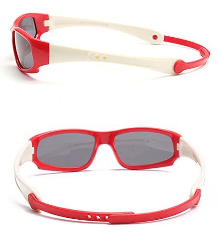 Occhiali Regolabile Equitazione Skateboard Rosso Sole Polarized Sportivi Da Bambini 12 5 1KFJcl