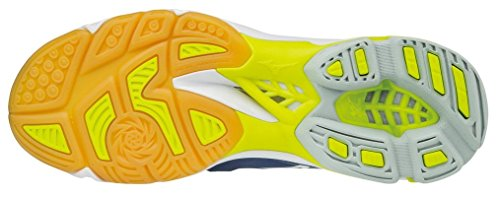 Z3 Lightning Homme Mizuno de Depths Yellow Volleyball Chaussures White Bleu Wave Blue Safety Mid Blanc Jaune qT4xwES
