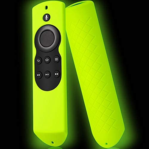 Firestick Cover Compatible with Amazon Fire Stick Remote 1st Gen, Cover for Fire Stick Remote Control Glow in The Dark, Pre 2018 Firestickremote Cover Rose