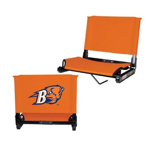 Bucknell Stadium Chair Orange 'B w/Bison Head' by CollegeFanGear