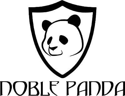 Noble Panda Bamboo Toothbrush - Soft Charcoal Bristles (4 Pack), BPA Free, Environmentally Friendly, Biodegradable Eco Toothbrush, Family Dental Set, Sensitive Gums, Natural Charcoal Whitening