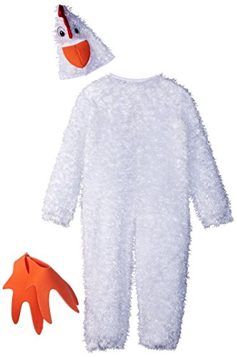 Charades Child's Little Chicken Costume, White, Small -