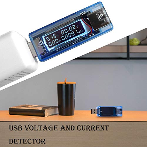KWE-V20 USB voltage current Doctor mobile power Charger Capacity Tester Meter Power Bank - - Amazon.com