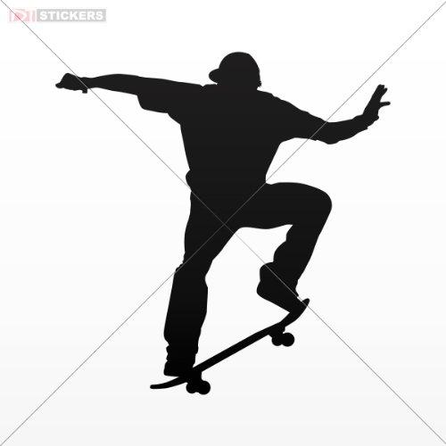Decal Stickers Vinyl Skate Boarding Free Style Vinyl Art Decor Laptop Notebook Car Window Size: 4 X 3.9 Inches Black