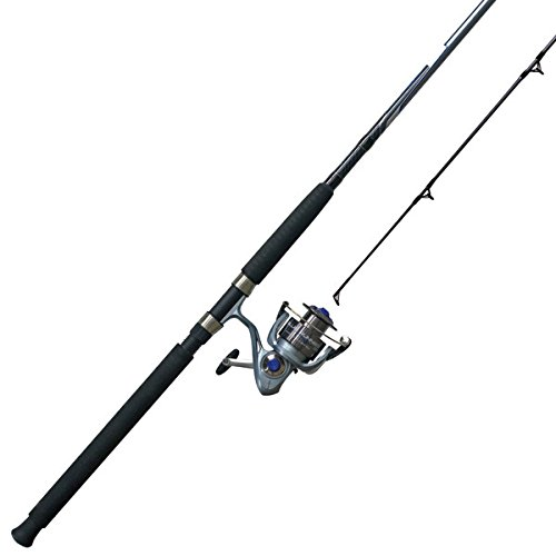 - Zebco BLR80122MHA, NS3 Blue Runner Spinning Combo, 4.1: Gear Ratio, 12' Length, 2pc, 15-40 lb Line Rate, Fast Action, Ambidextrous