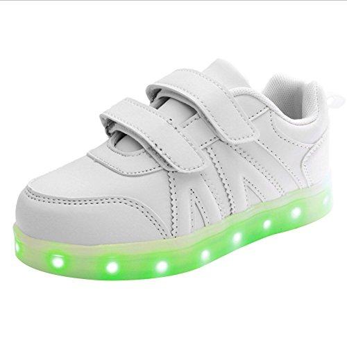 iBaste NEW 2016 LED niños brillo zapatos infantil talla 25-34 colores 1