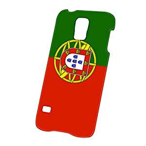 Case Fun Samsung Galaxy S5 (i9600) Case - Ultra Slim Version - Full Wrap Edge to Edge Print - Flag of Portugal