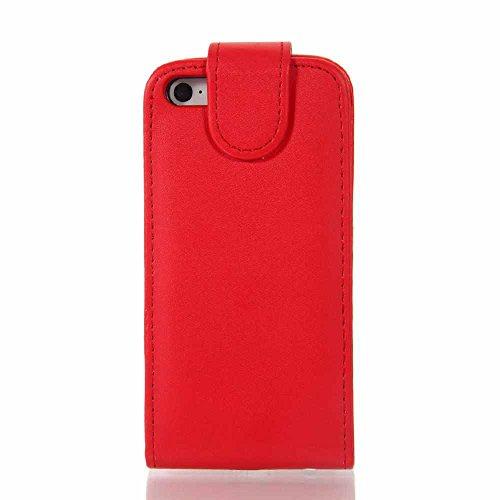 C63rosso Apple iPhone 55S custodia a portafoglio in pelle PU–con contanti/carta