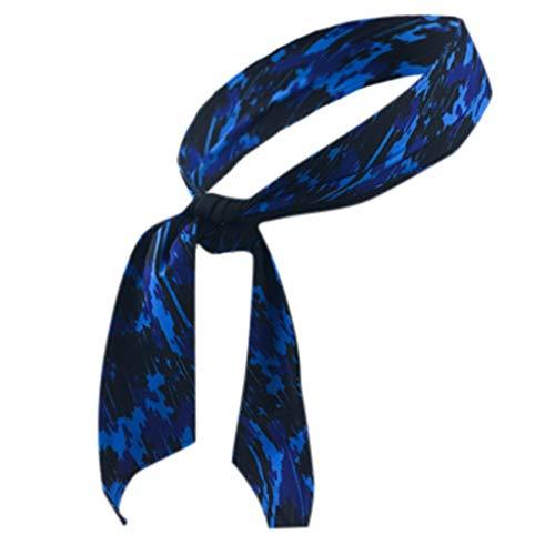 Mbtaua,Men Workout Elastic Headband Sports Headband Sweatband Athletic Headband for Sports, Fitness, Yoga, Running Blue