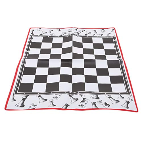 (Iumer Roll Up Chess Mat Nonwovens Durable Portable Roll-up Travel Camp Chessboard(Chess not Include))