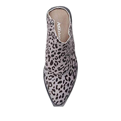 Grey Calf Mule Leather Hair Antelope Women's 369 Spotted HqBvvA