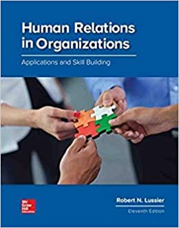 Human Relations In Organizations Applications And Skill Building 9781260043679 Human Resources Books Amazon Com
