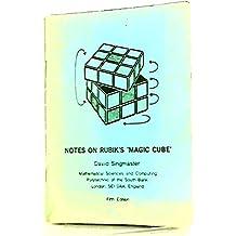 Notes on Rubik's 'Magic Cube'