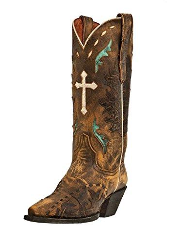 Dan Post Women's Dan Post Cowboy Boot, Tan Vintage, 8 M (Vintage Cowboy Boot)