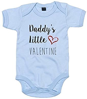 0e2b19a1e MYOG Personalised Prints Baby Grow, Daddy's Little Valentine, Cute Baby  Romper, Present for