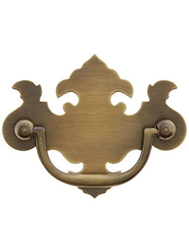 Chippendale-Style Brass Bail Pull in Antique-by-Hand - 2 1/2