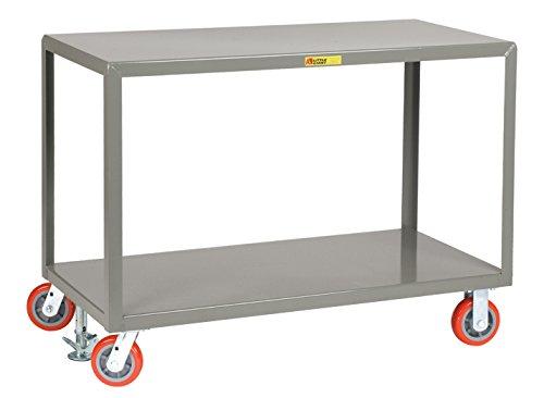 Little Giant IP3672-2R-6PYFL Mobile Tables, 2 Rigid/2 Swivel, 2 Shelves, 3600 lb. Capacity, 2 Rigid & 2 Swivel Casters, 36