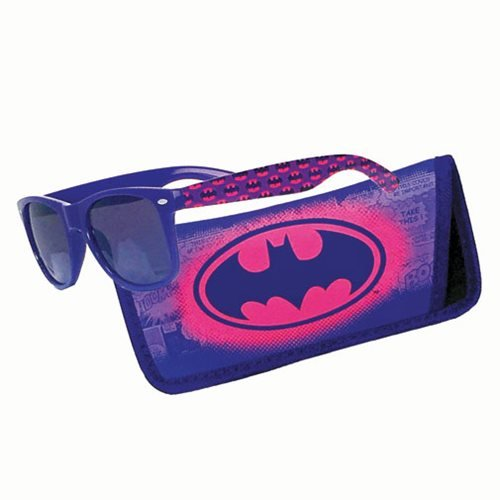 Batman Pink Logo Sunglasses with Carry Case -