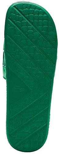 Lacoste Fraisier 118 U Slide Pool Beach Sandals in Green & Gold Deluxe 735CAM0128 GG4 QeNAbgz4