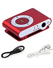 Mini USB Clip MP3 Player Durable Portable Mini Metal USB MP3 Support 32GB Micro SD TF Card for Husband, Wife, Relatives, Friends, Children Gifts