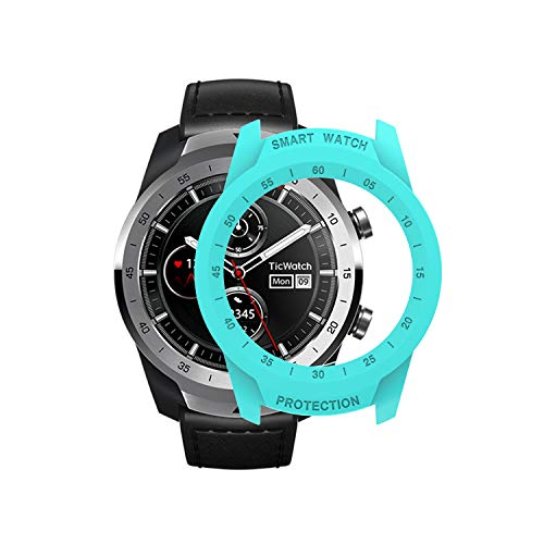 TicWatch Pro Case SIKAI Protective Anti-Scratch Bumper Cover for TicWatch Pro Smart Watch Ultra-Light Multi-Colors (Mint Green)
