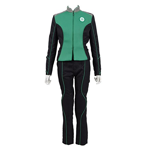 TISEA Unisex Warship Uniform Five Colors Departments Costumes & Accessories for Cosplay Party and Halloween (Custom Made, Green (Woman)) ()