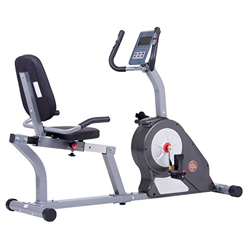 Body Champ Enhanced Upgraded Magnetic Recumbent Exercise Bike with Computer Program, Pulse and Resistance / Reclined Seat Back Support