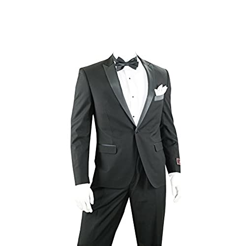 Slim Fit Tuxedo - Black, 44 Long