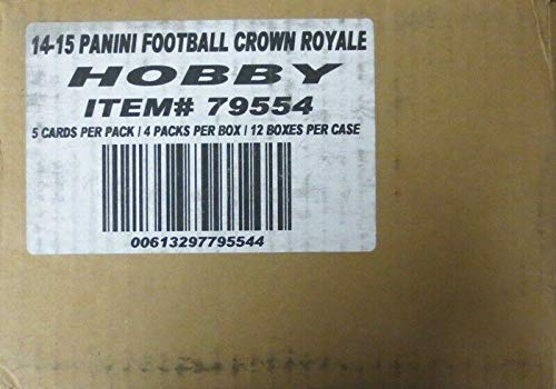 (Sports Memorabilia 2014 Panini Crown Royale Football Hobby 12-Box Case - Unsigned Football Cards)
