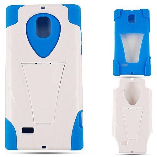 DOUBLE ARMOR COVER FOR LG SPECTRUM2/OPTIMUS LTE II HARD SOFT CASE SKIN 03-JCH BLUE WHITE VS930 CELL PHONE ACCESSORY