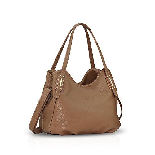 Leather Purse Black Khaki amp;Doris Satchel Crossbody Handbags Women Bag Bag Nicole Hobo Tote PU Shoulder gvw4Sq7q